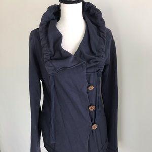 Lucky Brand Cotton Navy Sweatshirt